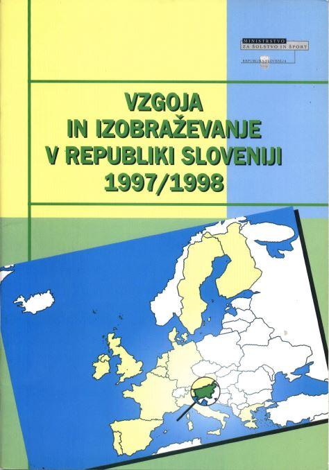 Brosura Vzgoja in izobraevanje v RS 1997 98