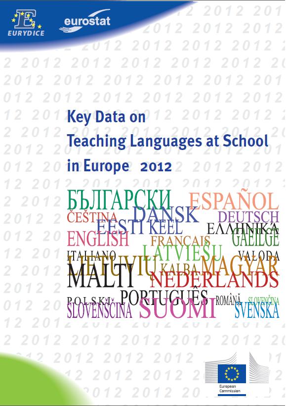 Pomembni podatki o poučevanju jezikov v šolah v Evropi 2012 naslovnica