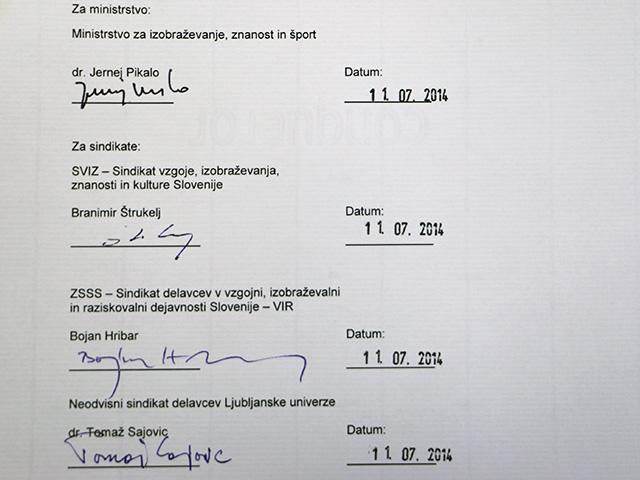 Minister s SVIZ, SVIR in NSDLU podpisal Izjavo o stopnji usklajenosti ZViS-1