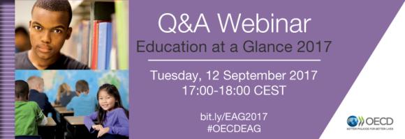 Spletni seminar OECD: Pogled na izobraževanje 2017