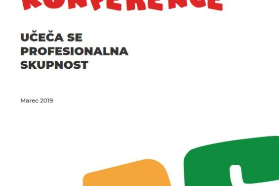 Publikacija Sporočilo konference Učeča se profesionalna skupnost