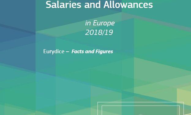 Plače učiteljev in ravnateljev v Evropi 2018/19