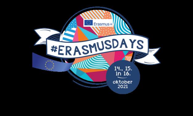 Erasmus dnevi 2021: 14.-16. oktober 2021